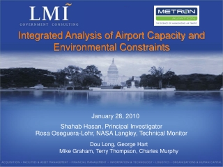 Integrated Analysis of Airport Capacity and Environmental Constraints