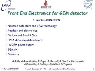 Front End Electronics for GEM detector