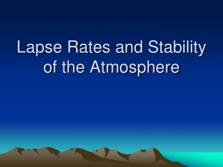 Lapse Rates and Stability of the Atmosphere