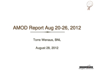 AMOD Report Aug 20-26, 2012