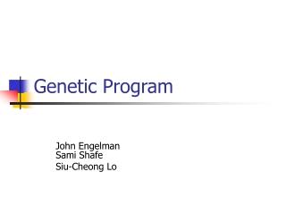 Genetic Program