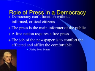 Role of Press in a Democracy