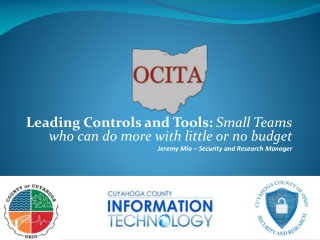 Leading Controls and Tools:  Small Teams who can do more with little or no budget
