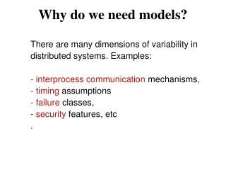 Why do we need models?