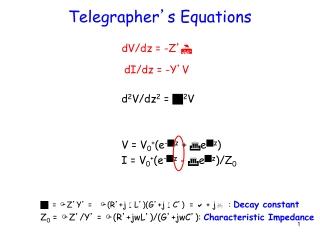 Telegrapher ' s Equations