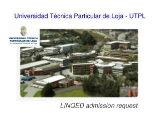 Universidad Técnica Particular de Loja - UTPL
