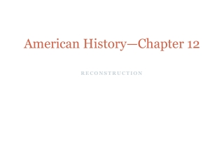 American History—Chapter 12