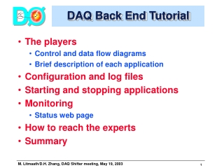 DAQ Back End Tutorial