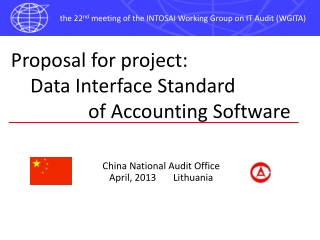 Proposal for project:     Data Interface Standard                  of Accounting Software