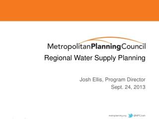 Regional Water Supply Planning