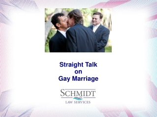 Straight Talk on Gay Marriage