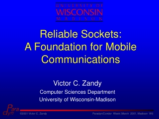Reliable Sockets: A Foundation for Mobile Communications