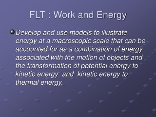 FLT : Work and Energy