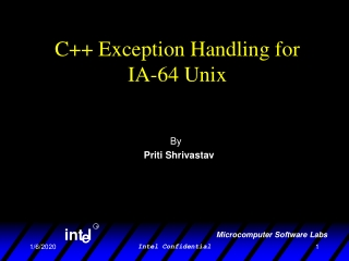 C++ Exception Handling for  IA-64 Unix