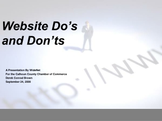 Website Do's  and Don'ts