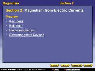 Section 2:  Magnetism from Electric Currents