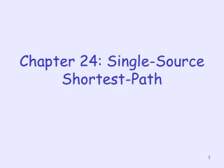 Chapter 24: Single-Source Shortest-Path