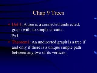 Chap 9 Trees
