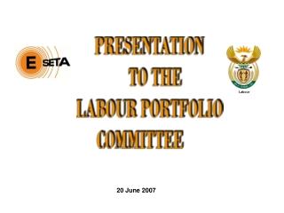 PRESENTATION          TO THE       LABOUR PORTFOLIO  COMMITTEE