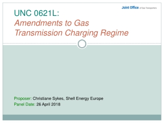 UNC 0621L: Amendments to Gas Transmission Charging Regime