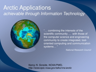 Arctic Applications  achievable through Information Technology