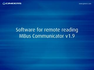 Software for remote reading MBus Communicator v1.9