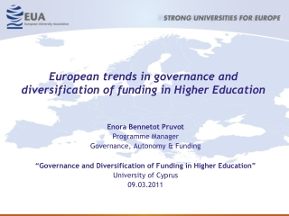 European trends in governance and diversification of funding in Higher Education