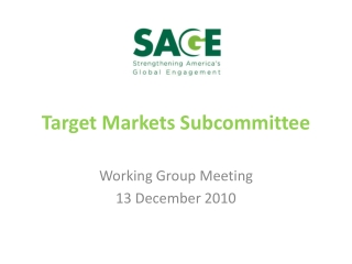 Target Markets Subcommittee