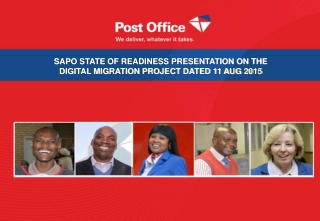 SAPO STATE OF READINESS PRESENTATION ON THE DIGITAL MIGRATION PROJECT DATED 11 AUG 2015