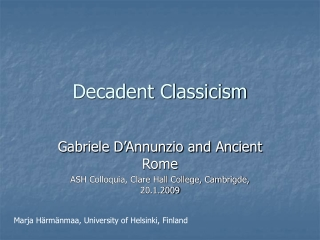 Decadent Classicism