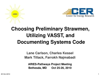 Choosing Preliminary Strawmen, Utilizing VASST, and  Documenting Systems Code