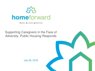 Supporting Caregivers in the Face of Adversity: Public Housing Responds