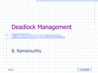 Deadlock Management