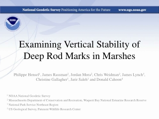 Examining Vertical Stability of Deep Rod Marks in Marshes