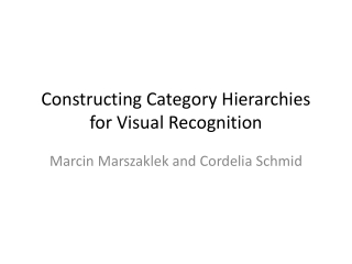 Constructing Category Hierarchies for Visual Recognition