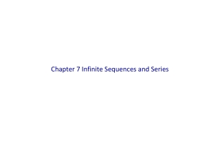 Chapter 7 Infinite Sequences and Series