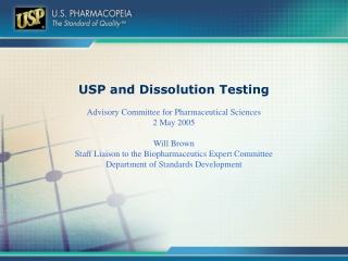 USP and Dissolution Testing
