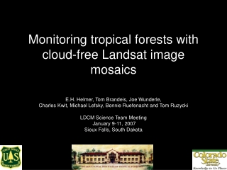 Monitoring tropical forests with cloud-free Landsat image mosaics