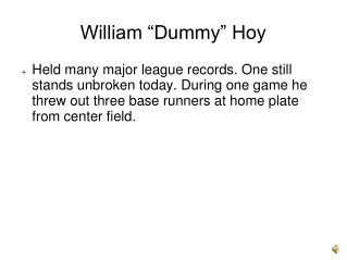 """William """"Dummy"""" Hoy"""