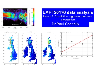 EART20170 data analysis lecture 7: Correlation, regression and error propagation