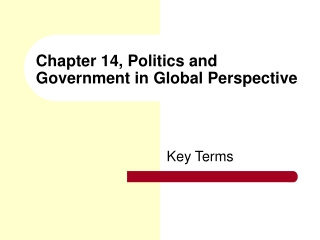 Chapter 14, Politics and Government in Global Perspective