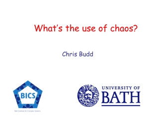 What's the use of chaos? Chris Budd