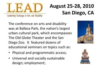 August 25-28, 2010 San Diego, CA