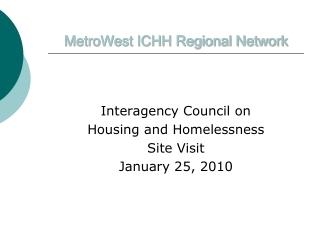 MetroWest ICHH Regional Network