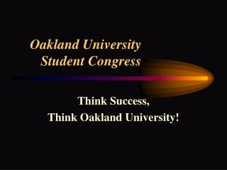 Oakland University  Student Congress