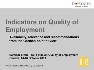 Indicators on Quality of Employment