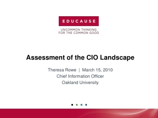 Assessment of the CIO Landscape