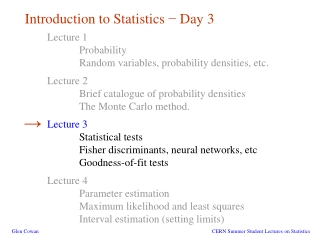 Introduction to Statistics  −  Day 3