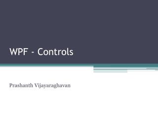 WPF - Controls