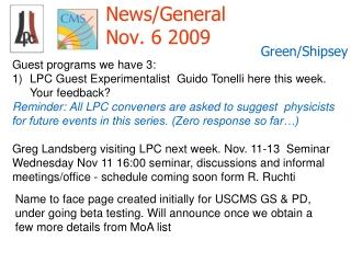 News/General Nov. 6 2009